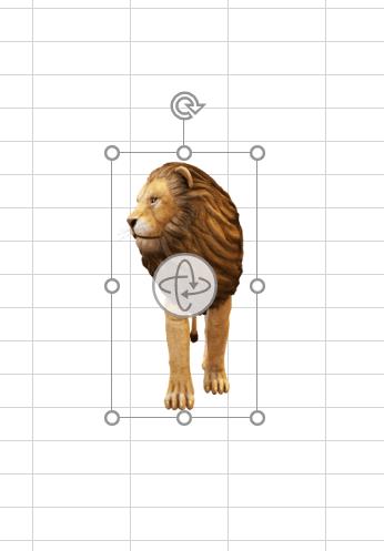 3Dモデルのライオン