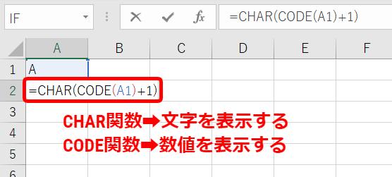 文字コードの数値を文字に変換