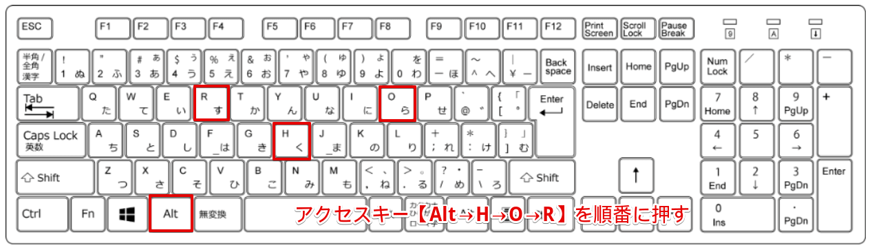 アクセスキー【alt-h-o-r】