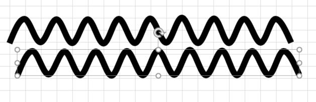 波線をコピー&ペースト