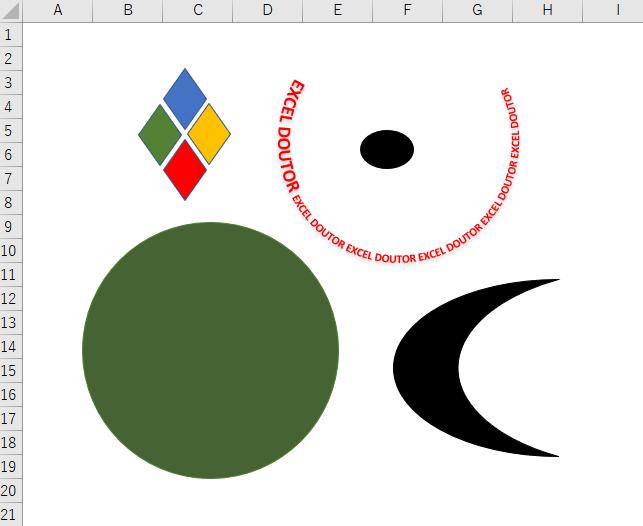 エクセルで図形を背面や前面に移動させる方法!重なりの順番を