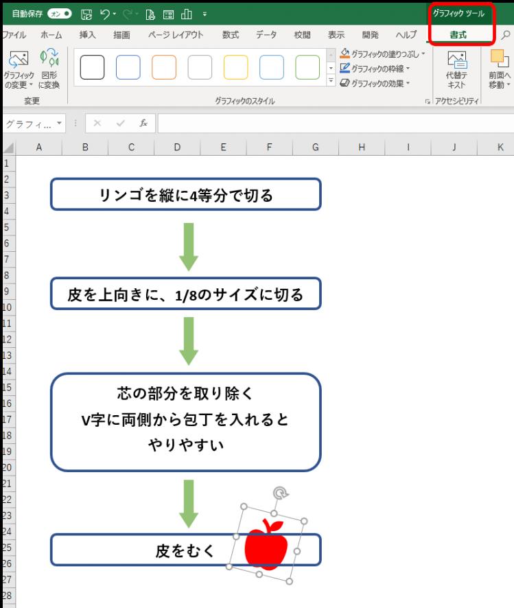 グラフィックツール書式