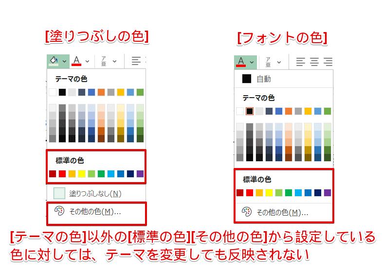 [標準の色][その他の色]の確認